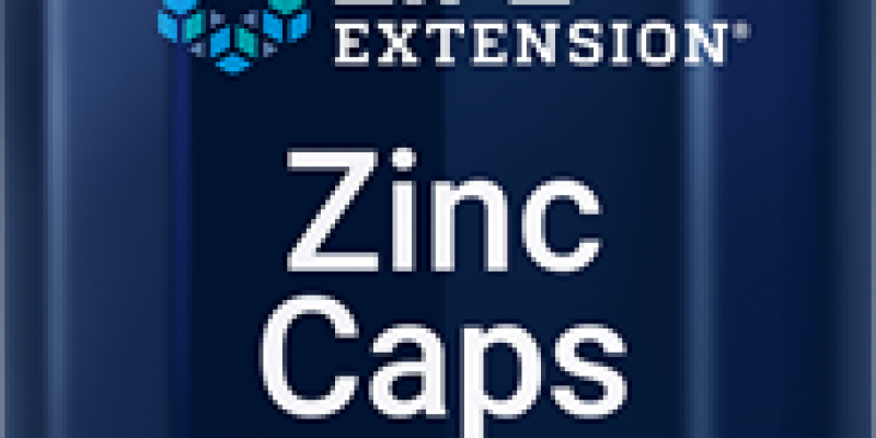 Life Extension | Zinc Caps | Research shows that zinc deficiency is widespread, especially in the elderly. Supplementing with zinc is an effective way to support aging immune systems.
