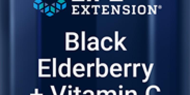 Life Extension | Black Elderberry + Vitamin C | Black elderberry extract and vitamin C both promote a healthy immune response.