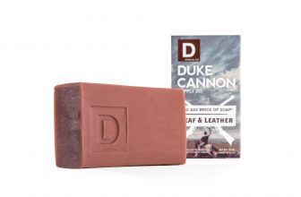 Duke Cannon | Big Ass Brick of Soap – Leaf and Leather | experience this American-made soap inspired by leaf and leather.