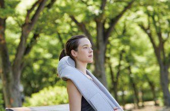 Brookstone | Quzy-Premium Wireless Neck And Shoulder Massager | Enjoy a pleasant massage anywhere you like with the Quzy wireless neck and shoulder massager.
