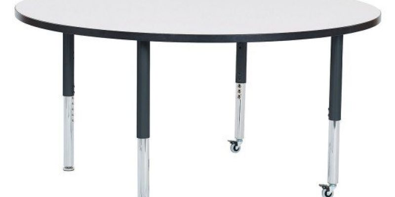 S&S Wordlwide | Round Dry Erase Activity Table with Adjustable Height Super Legs, 60?