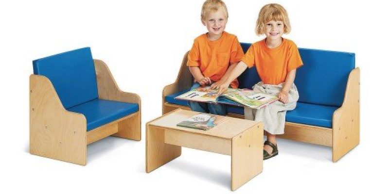 S&S Worldwide | Jonti-Craft? Young Time? 3-Piece Living Room Set | This 3-piece living room set is well suited for both dramatic play