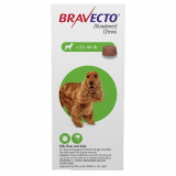 Budget Pet Care | Bravecto | for Medium Dogs 22- 44 lbs (Green) | Bravecto is an easy to administer tasty chew that not only kills fleas and ticks but also prevents flea infestations for 12 weeks.