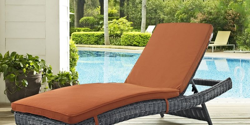 LexMod   Summon Outdoor Patio Sunbrella? Chaise   Summon offers an exquisite two-tone synthetic rattan weave, plush all-weather cushions with industry-leading Sunbrella? fabric, UV protection