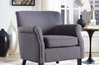 LexMod | Province Upholstered Fabric Armchair | Elegance abounds in this charming piece finely upholstered in polyester fabric and d?corated with polished silver-accented nailhead trim