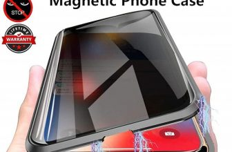 Light in the Box   Magnetic Case For Apple iPhone 12 / iPhone 11 / iPhone 12 Pro Max   nti peep Full Body Cases Solid Colored Tempered Glass Phone