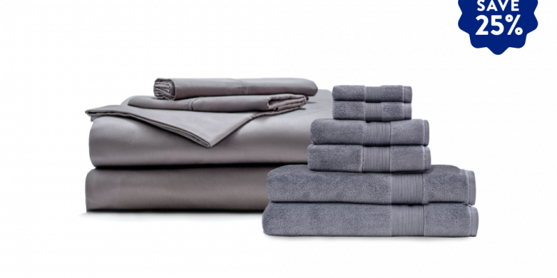 Miracle | Miracle Home Bundle | comes with 1 set of Miracle's Sheet set and 1 set of Miracles ultra-plush towel Set.