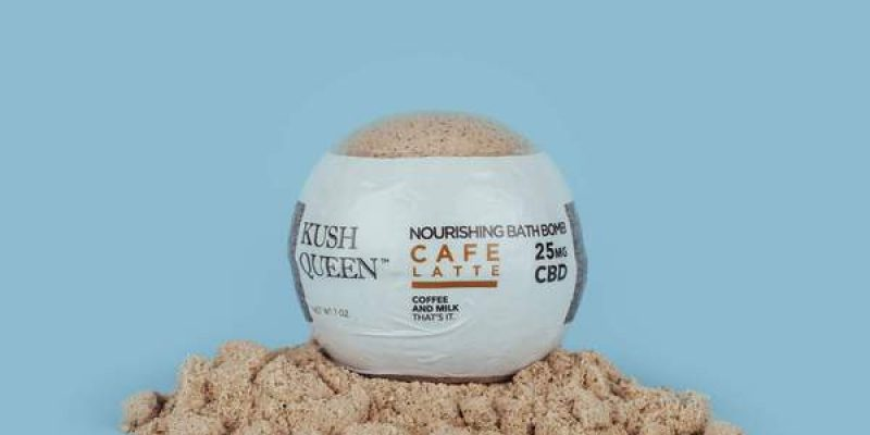 Kush Queen   Caf? Latte CBD Bath Bomb   was created to uplift your spirits and to restore balance. Coffee fights fatigue and helps beautify the skin. Soak in the ultimate anti-oxidant bath.
