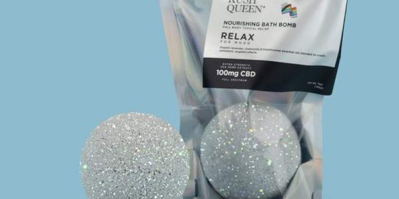 Kush Queen   Pride Glitter Relax 100mg CBD Bath Bomb: Full-Spectrum   Invite Pride Szn 2020 into your tub with eco-friendly holographic glitter, the incredible aroma
