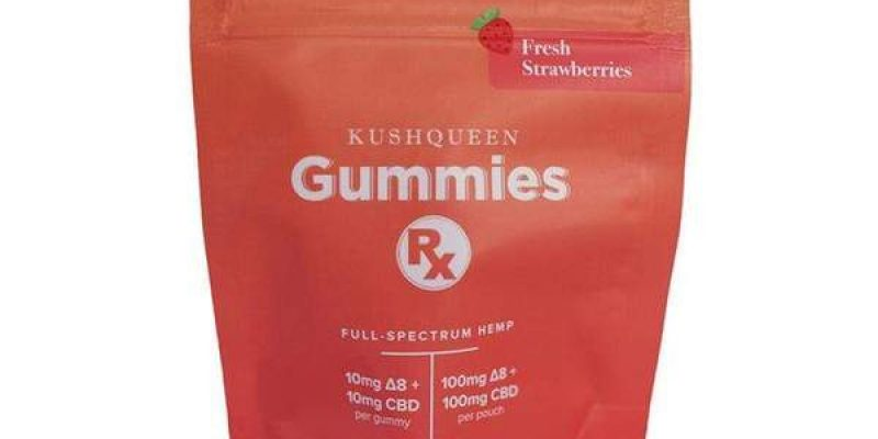 Kush Queen | Gummies Rx Elevated Strawberry CBD + Delta 8 THC Chews | Gummies Rx Elevated delivers the potent 1:1 ratio of CBD and Delta 8 THC.