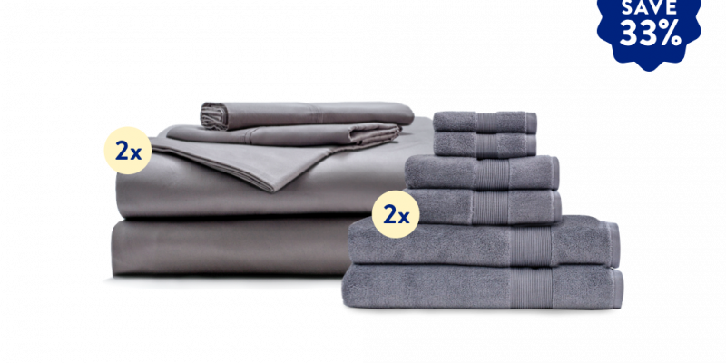 Miracle | MIracle Move-in Bundle | 2 sets of Miracle's premium sheet set and 2 sets of Miracle's ultra-plush towel set