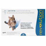Budget Pet Care   Revolution for Cats 5 -15lbs (Blue)   Revolution is a monthly spot-on treatment that controls a broad spectrum of both internal and external parasites found in cats.