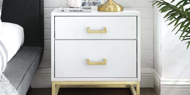 Inspired Home | Emiliana Side Table/Accent Table/Nightstand | Crafted from MDF in a sleek high gloss finish